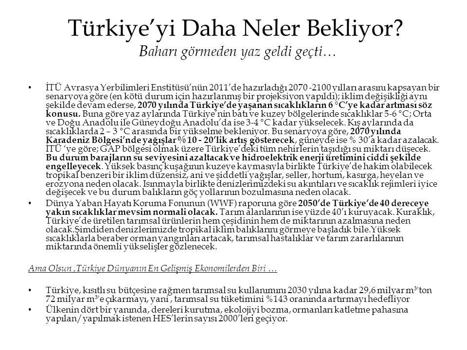 Türkiye'yi Daha Neler Bekliyor Baharı görmeden yaz geldi geçti…