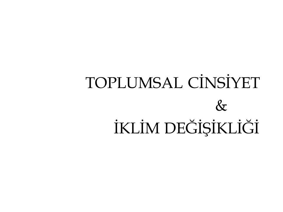TOPLUMSAL CİNSİYET & İKLİM DEĞİŞİKLİĞİ