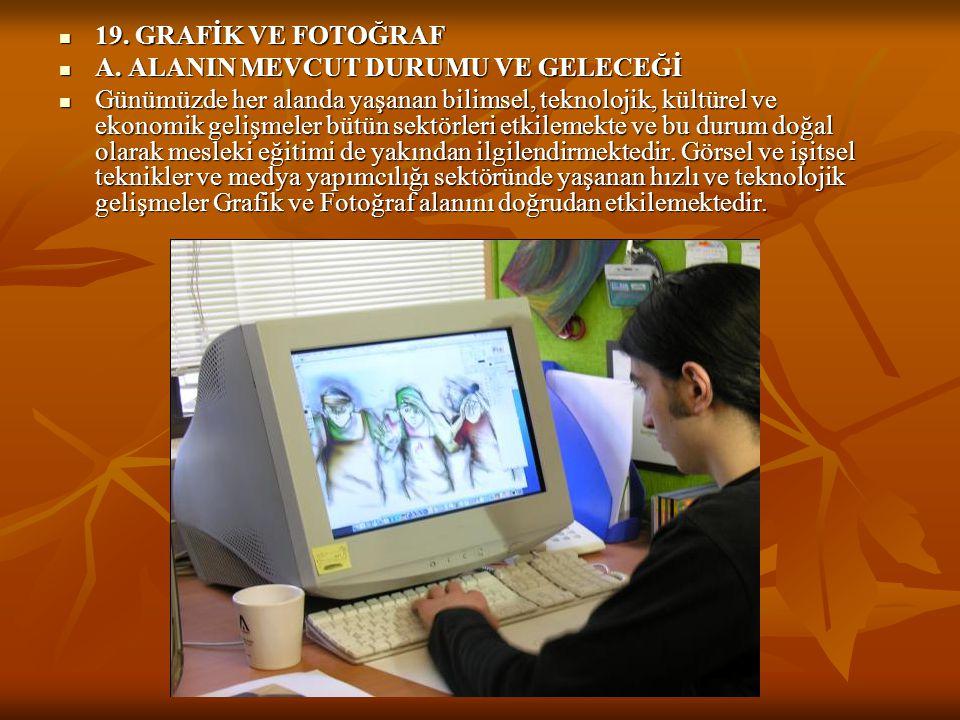 19. GRAFİK VE FOTOĞRAF A. ALANIN MEVCUT DURUMU VE GELECEĞİ.