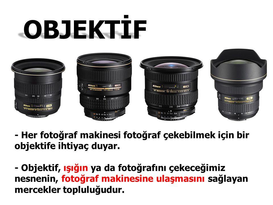 OBJEKTİF - Her fotoğraf makinesi fotoğraf çekebilmek için bir objektife ihtiyaç duyar.