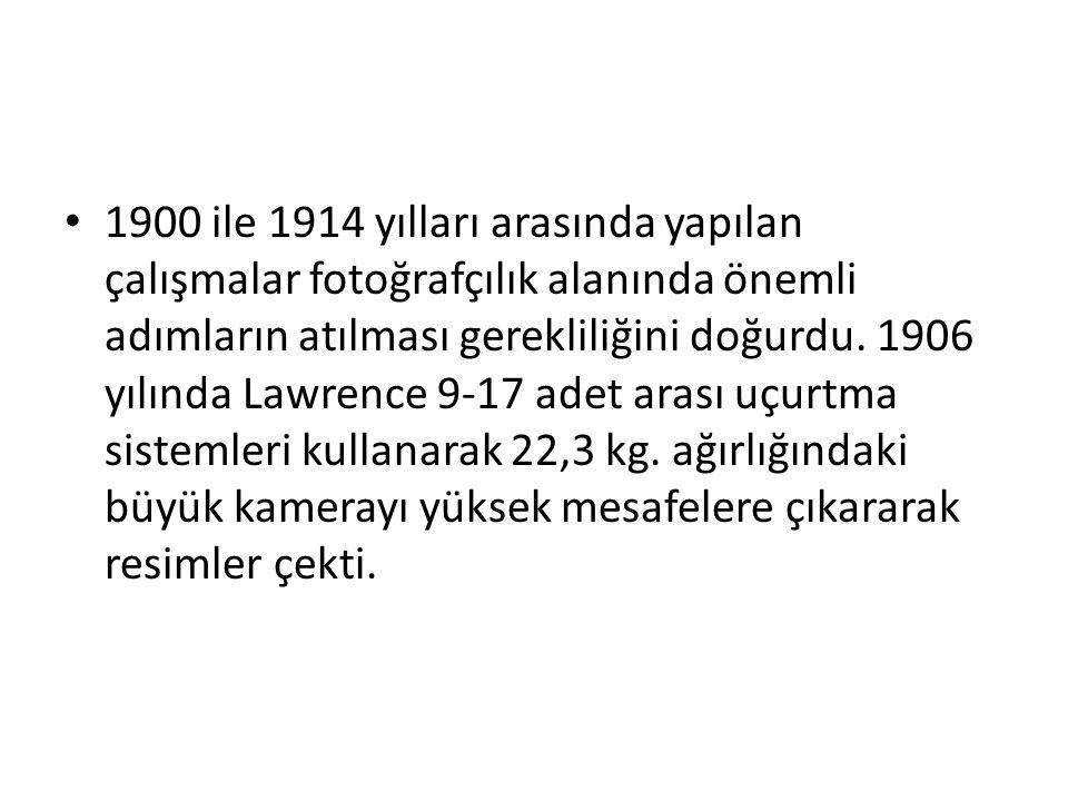 1900 ile 1914 yılları arasında yapılan çalışmalar fotoğrafçılık alanında önemli adımların atılması gerekliliğini doğurdu.