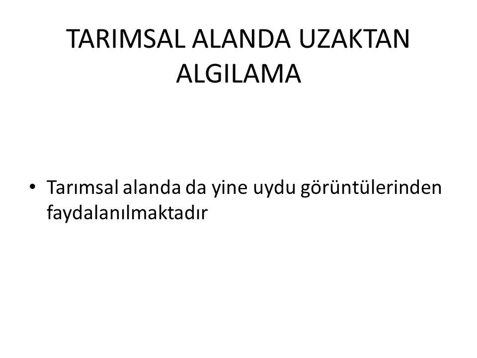 TARIMSAL ALANDA UZAKTAN ALGILAMA