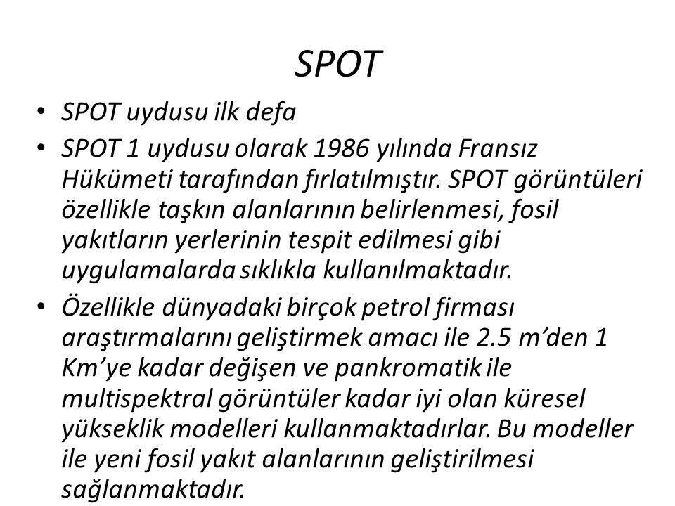 SPOT SPOT uydusu ilk defa