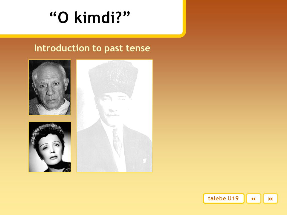 Introduction to past tense
