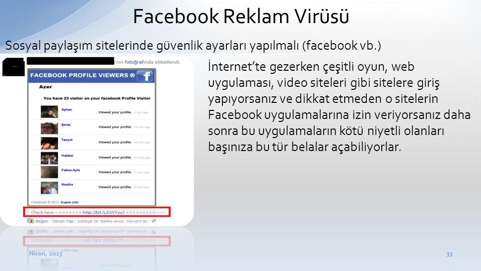 Facebook Reklam Virüsü