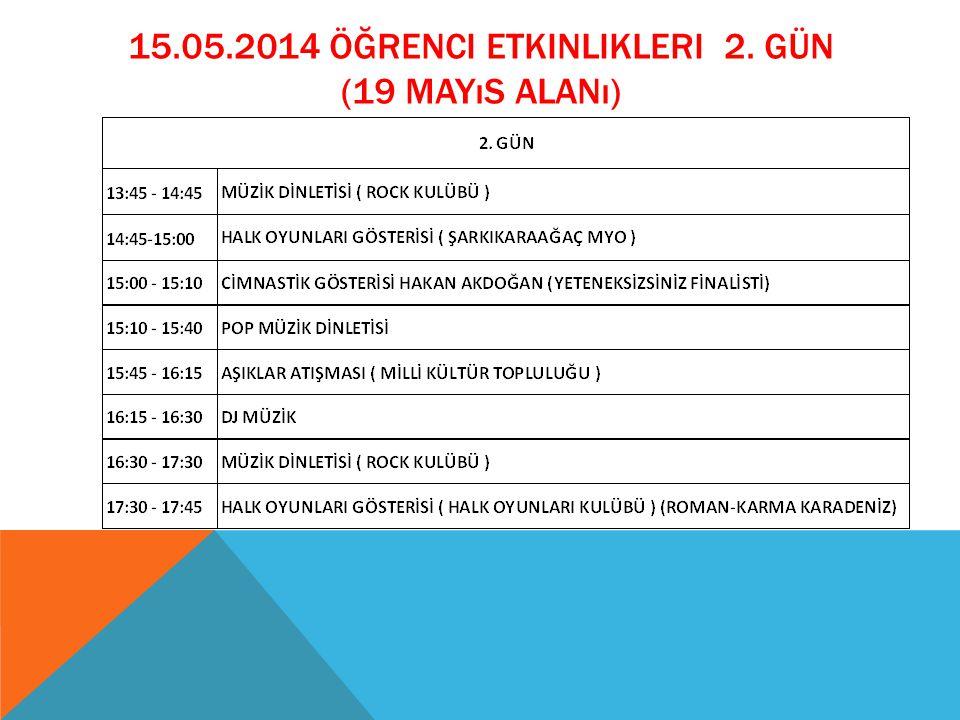 15.05.2014 öğrenci etkinlikleri 2. GÜN (19 mayıs alanı)