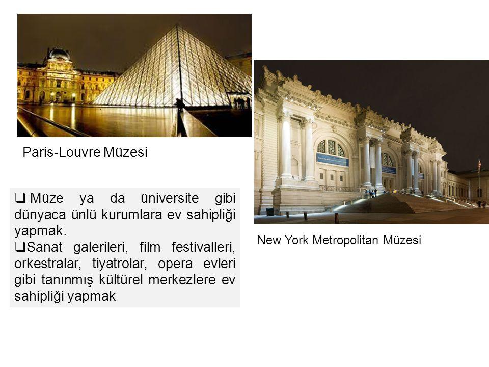 Müze ya da üniversite gibi dünyaca ünlü kurumlara ev sahipliği yapmak.