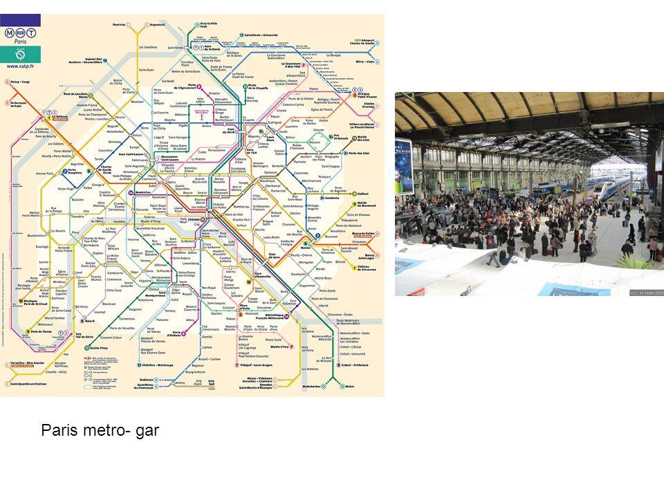 Paris metro- gar Paris metro- gar