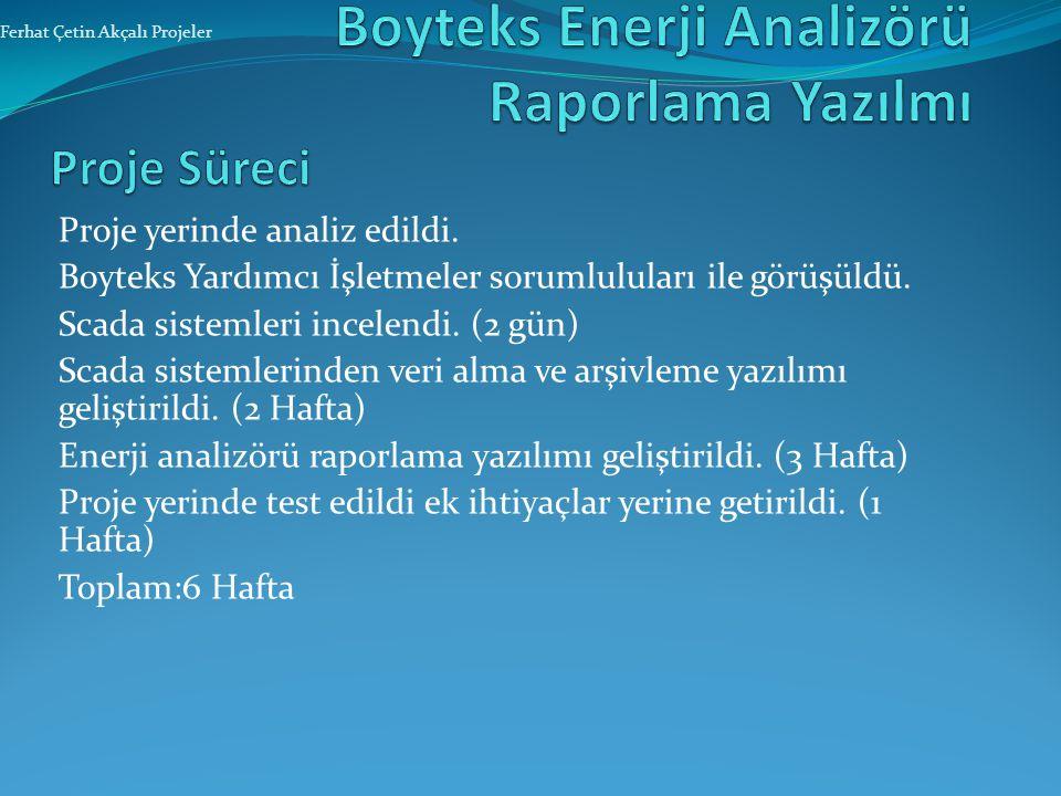 Boyteks Enerji Analizörü Raporlama Yazılmı