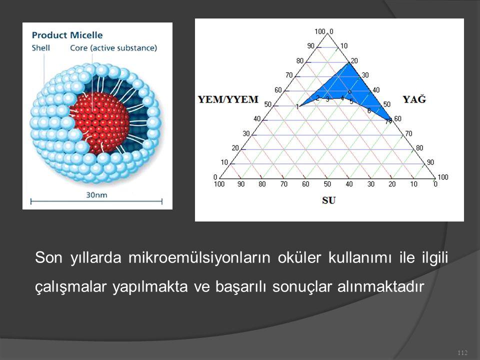 Son yıllarda mikroemülsiyonların oküler kullanımı ile ilgili çalışmalar yapılmakta ve başarılı sonuçlar alınmaktadır