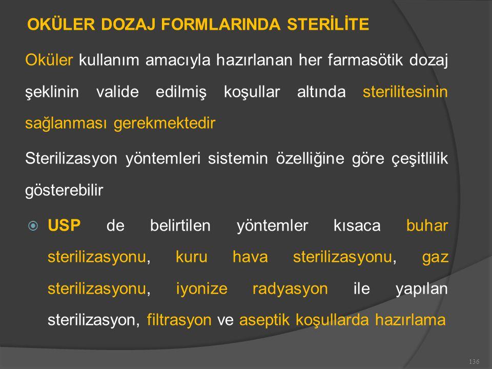 OKÜLER DOZAJ FORMLARINDA STERİLİTE