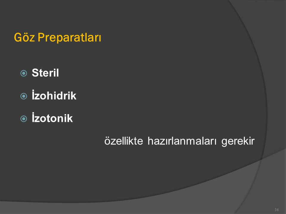 Göz Preparatları Steril İzohidrik İzotonik