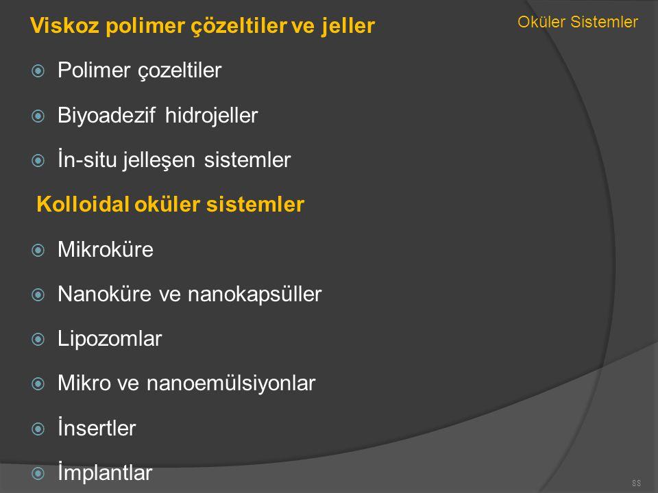 Viskoz polimer çözeltiler ve jeller Polimer çozeltiler