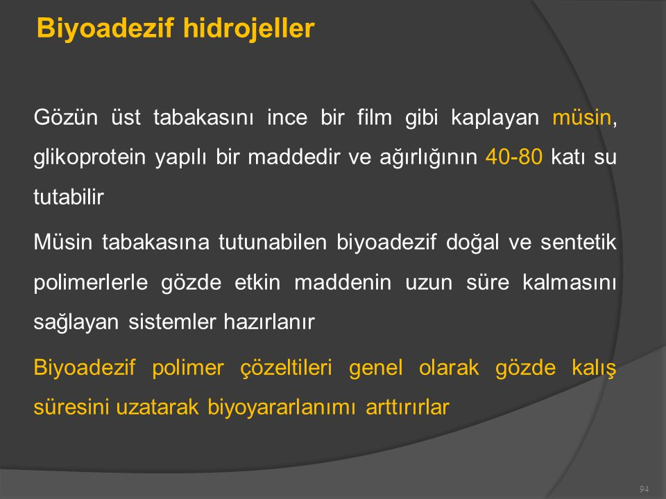 Biyoadezif hidrojeller