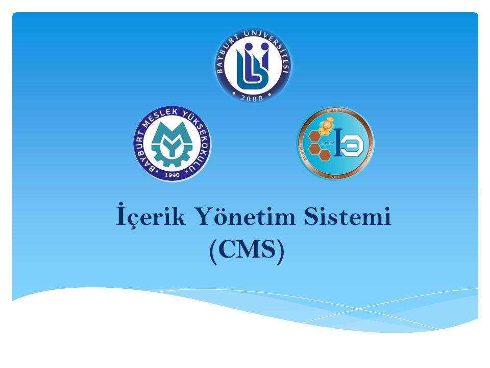 İçerik Yönetim Sistemi (CMS)