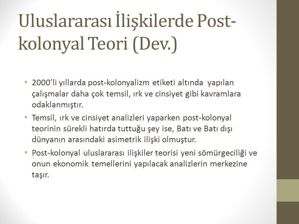 Uluslararası İlişkilerde Post-kolonyal Teori (Dev.)