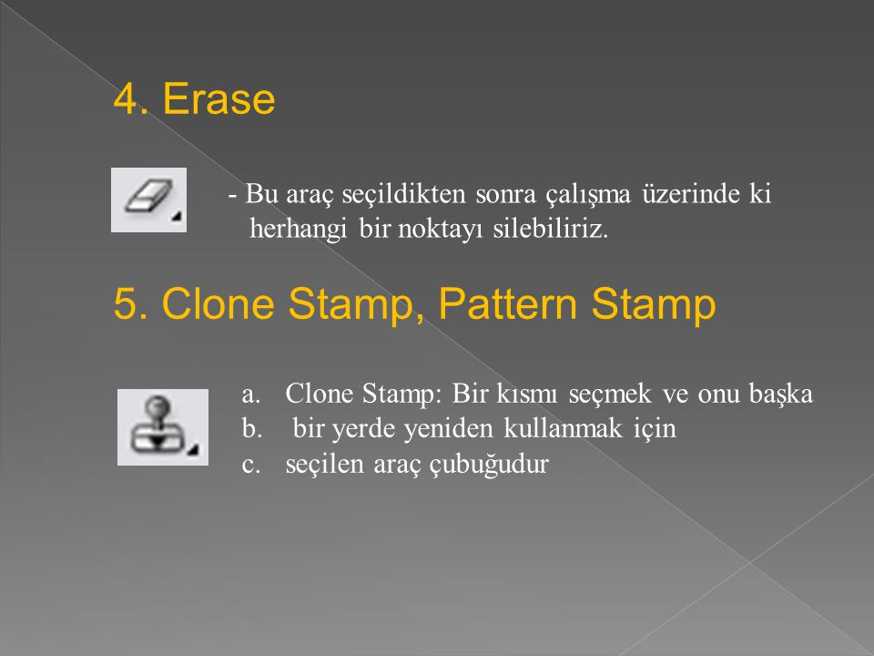 5. Clone Stamp, Pattern Stamp