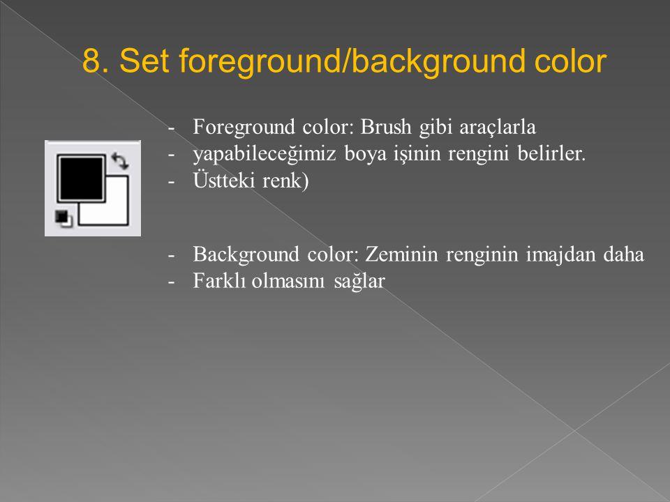 8. Set foreground/background color