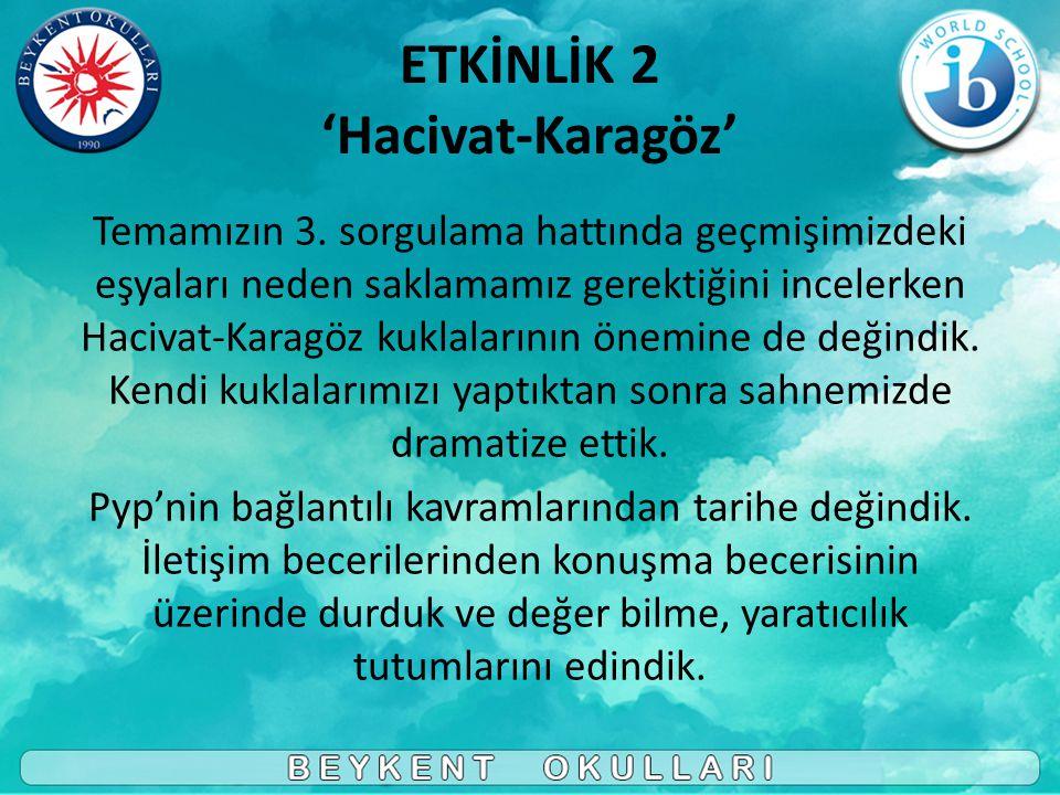 ETKİNLİK 2 'Hacivat-Karagöz'