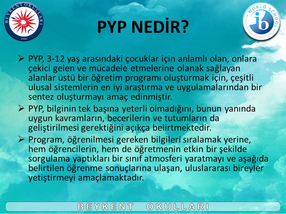 PYP NEDİR