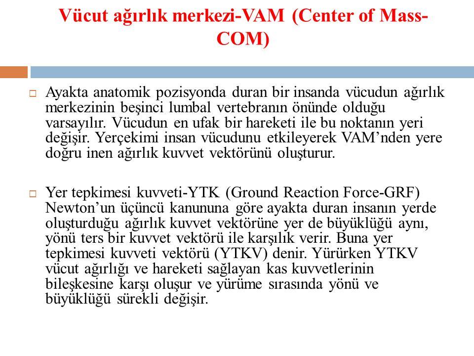Vücut ağırlık merkezi-VAM (Center of Mass-COM)