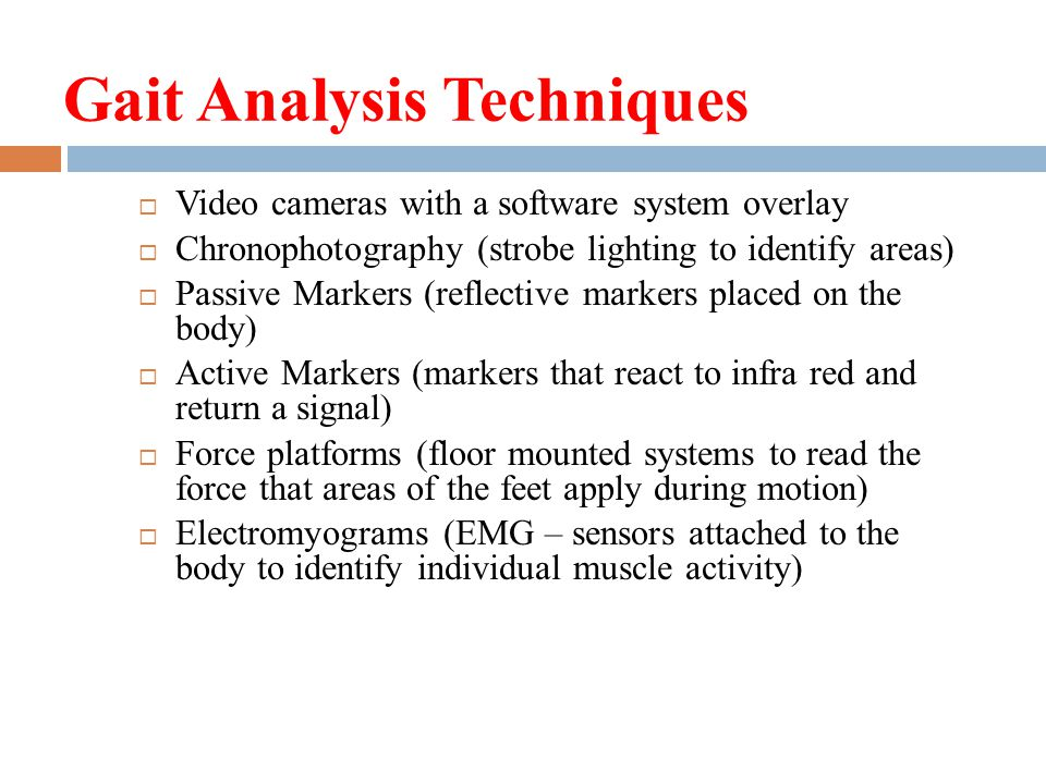 Gait Analysis Techniques