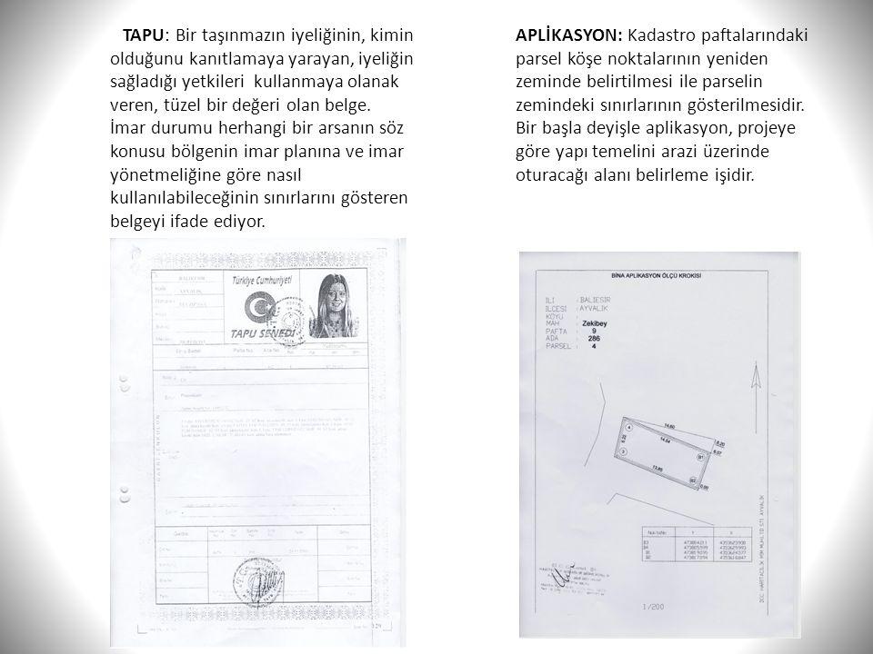 TAPU: Bir taşınmazın iyeliğinin, kimin olduğunu kanıtlamaya yarayan, iyeliğin sağladığı yetkileri kullanmaya olanak veren, tüzel bir değeri olan belge.