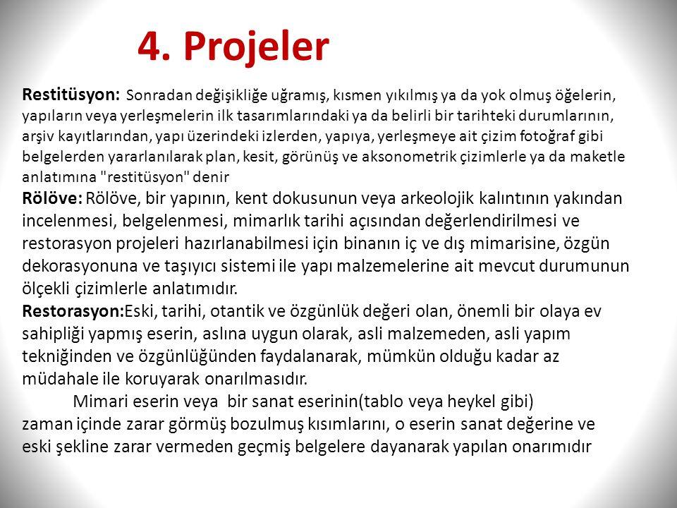 4. Projeler