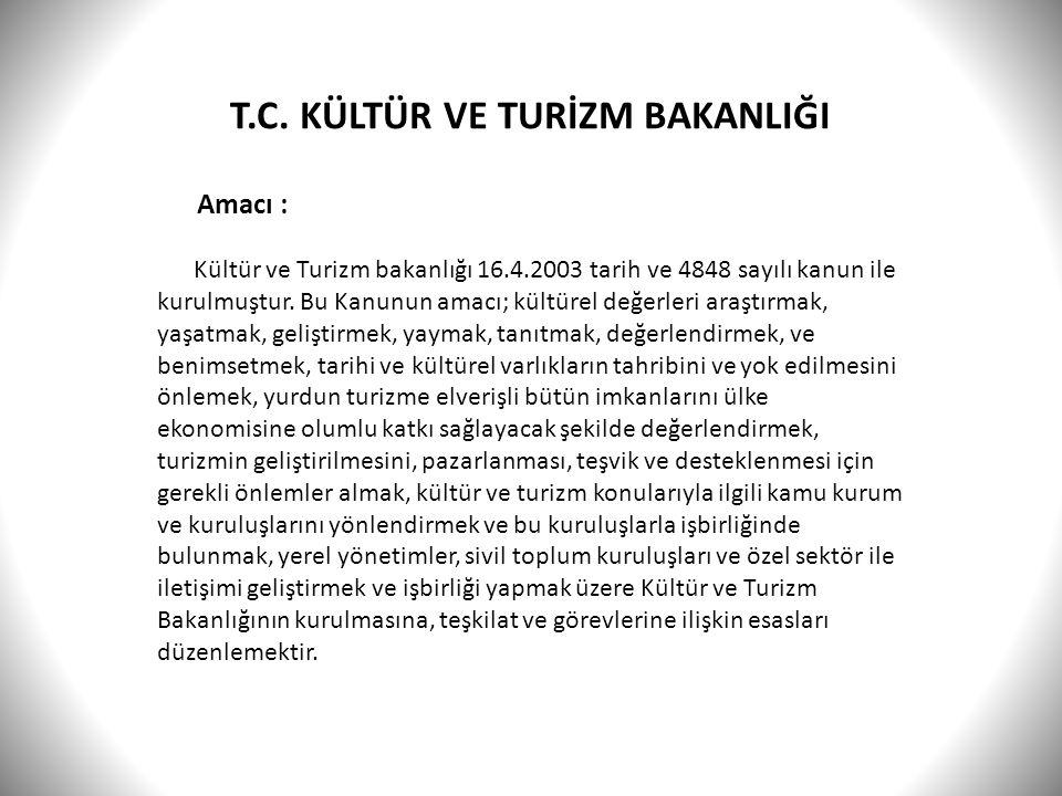 T.C. KÜLTÜR VE TURİZM BAKANLIĞI