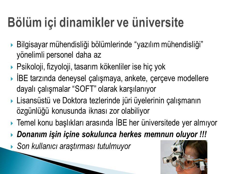 Bölüm içi dinamikler ve üniversite
