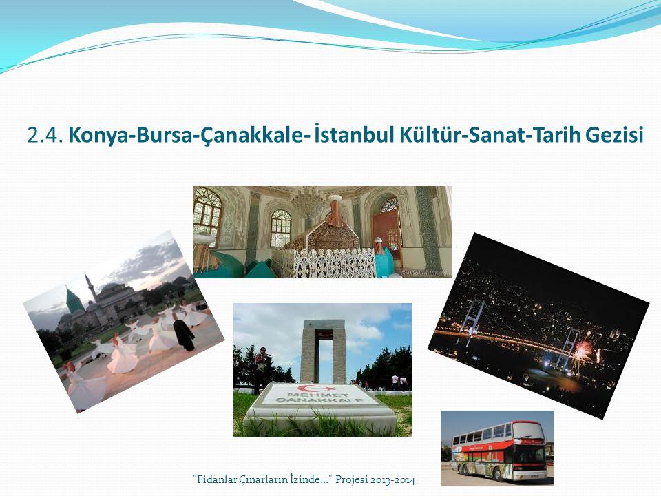 2.4. Konya-Bursa-Çanakkale- İstanbul Kültür-Sanat-Tarih Gezisi