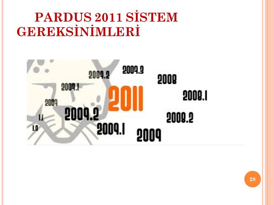 PARDUS 2011 SİSTEM GEREKSİNİMLERİ