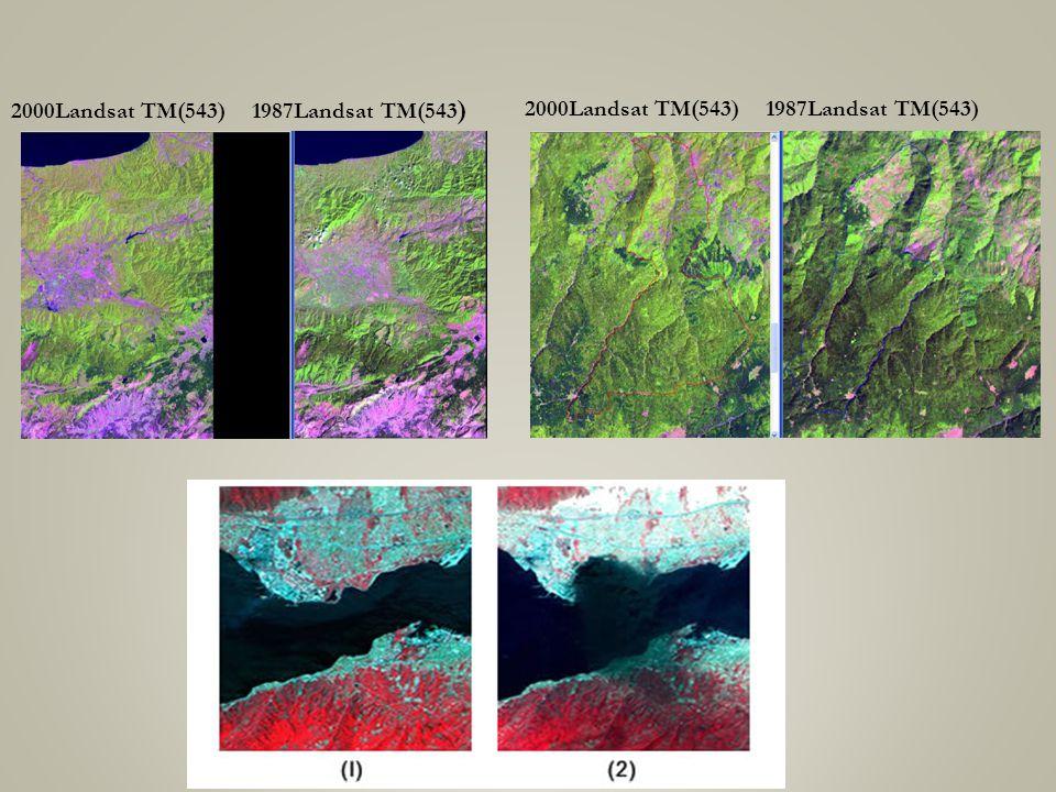 2000Landsat TM(543) 1987Landsat TM(543)