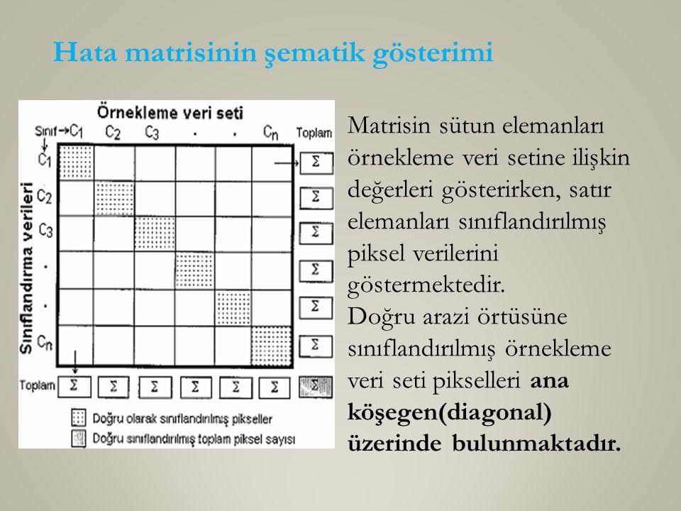 Hata matrisinin şematik gösterimi
