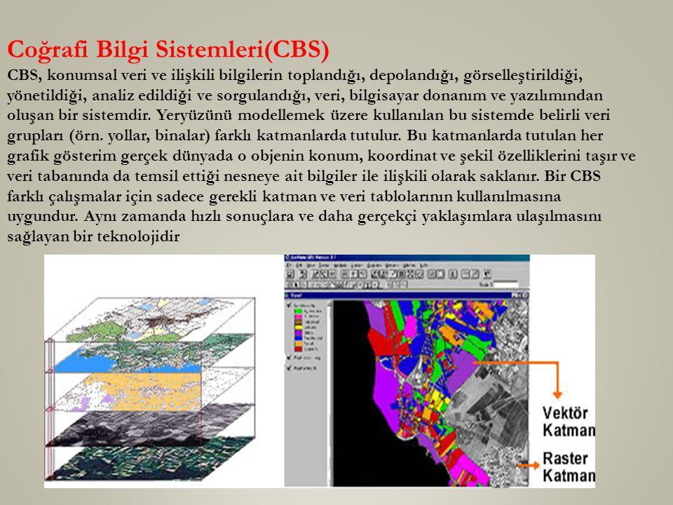 Coğrafi Bilgi Sistemleri(CBS)