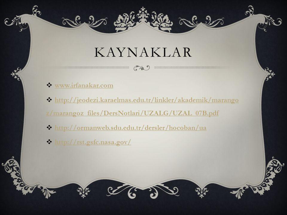 KAYNAKLAR www.irfanakar.com