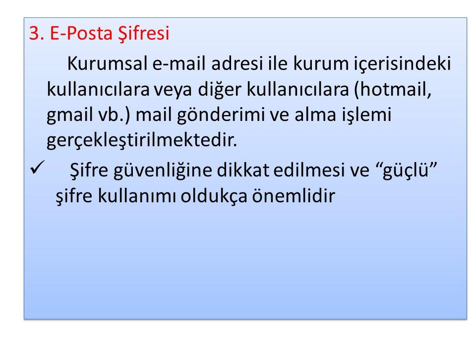 3. E-Posta Şifresi