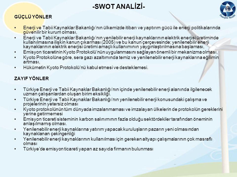 -SWOT ANALİZİ- GÜÇLÜ YÖNLER