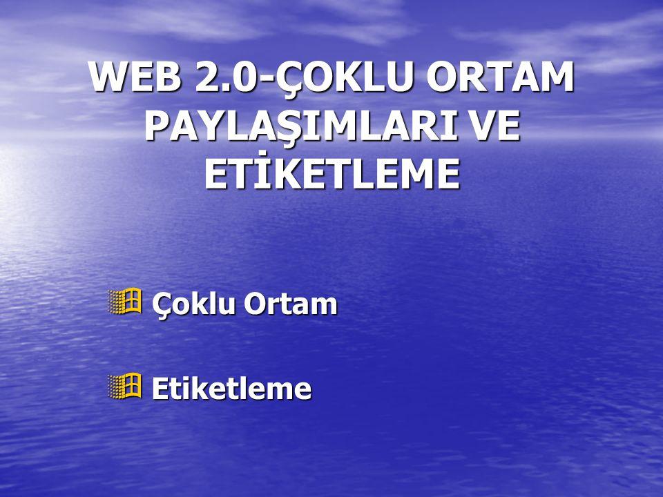 WEB 2.0-ÇOKLU ORTAM PAYLAŞIMLARI VE ETİKETLEME