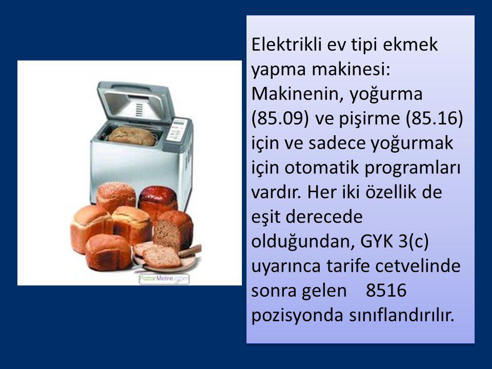 Elektrikli ev tipi ekmek yapma makinesi: Makinenin, yoğurma (85