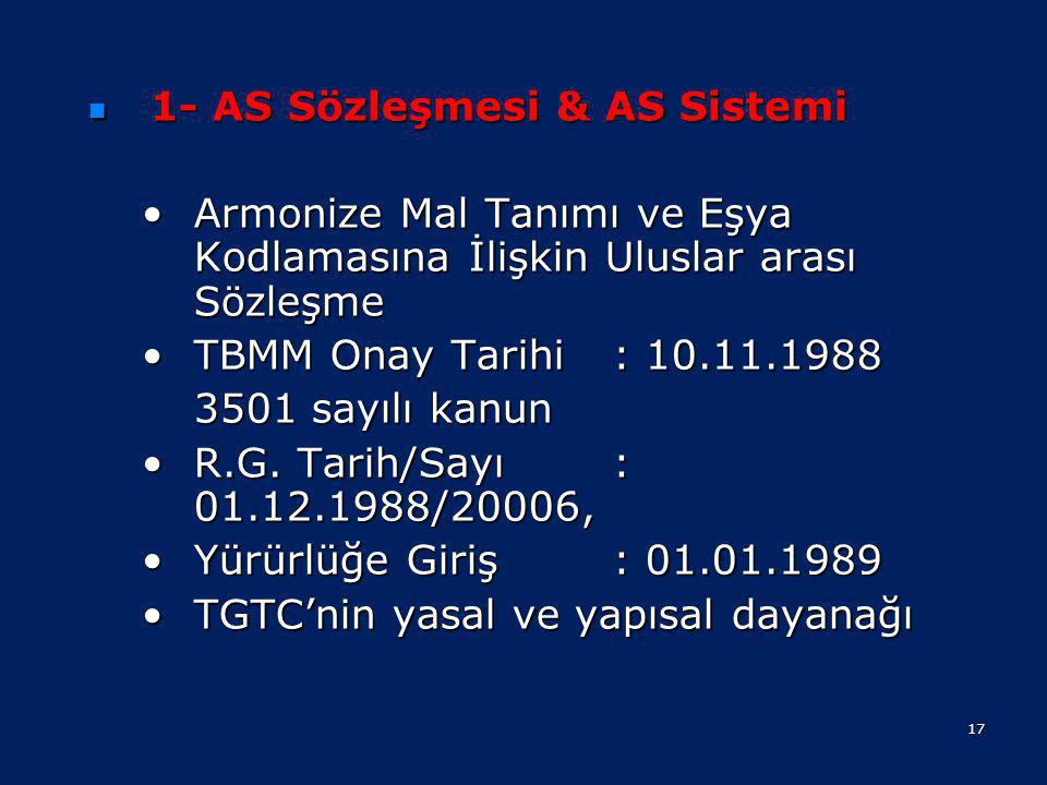 1- AS Sözleşmesi & AS Sistemi