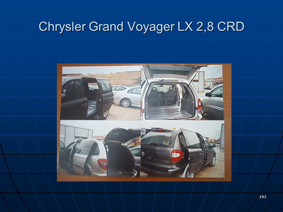 Chrysler Grand Voyager LX 2,8 CRD
