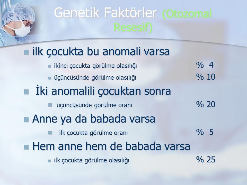 Genetik Faktörler (Otozomal Resesif)
