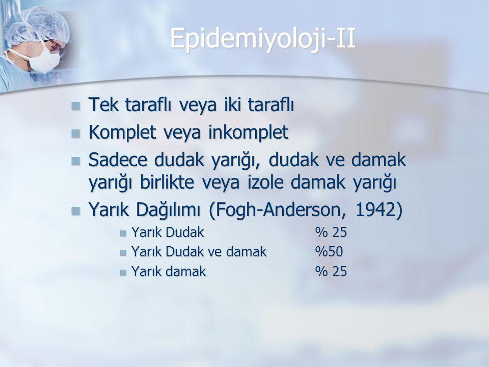 Epidemiyoloji-II Tek taraflı veya iki taraflı Komplet veya inkomplet
