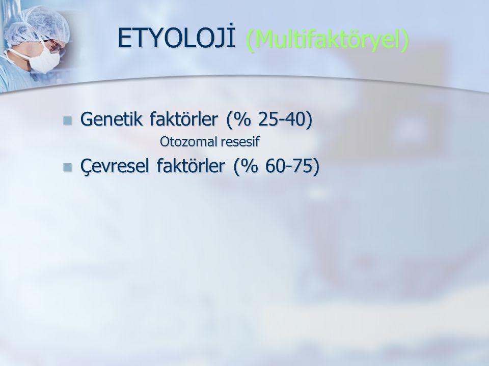 ETYOLOJİ (Multifaktöryel)