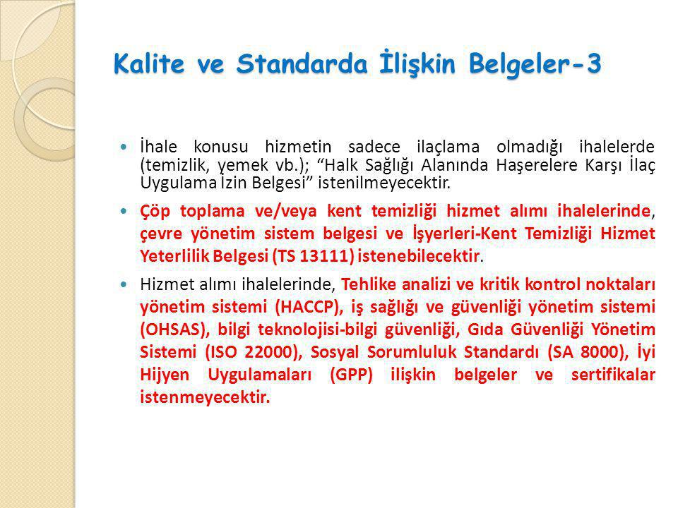 Kalite ve Standarda İlişkin Belgeler-3