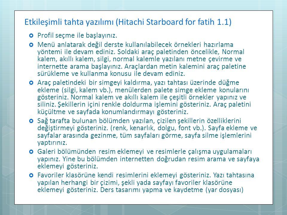 Etkileşimli tahta yazılımı (Hitachi Starboard for fatih 1.1)