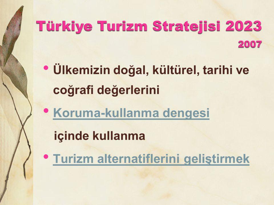 Türkiye Turizm Stratejisi 2023 2007