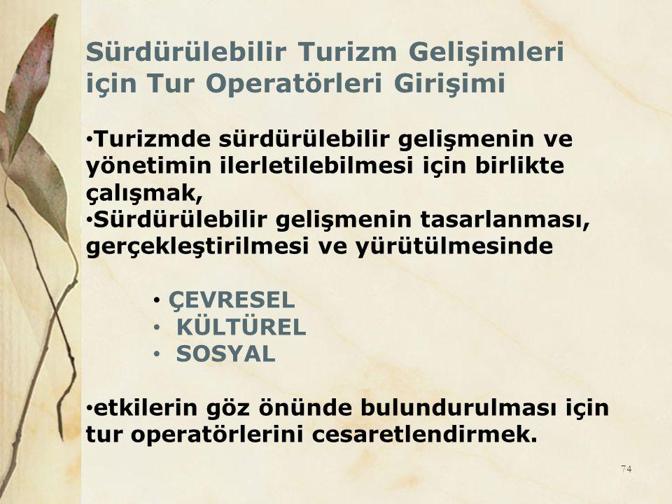 Sürdürülebilir Turizm Gelişimleri için Tur Operatörleri Girişimi