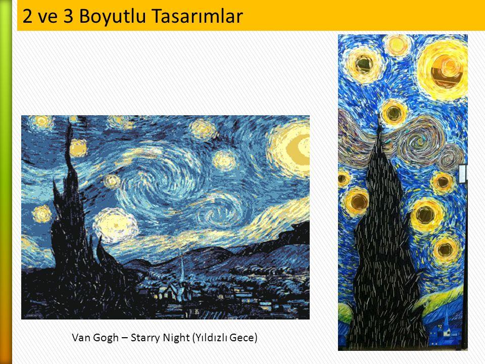 2 ve 3 Boyutlu Tasarımlar Van Gogh – Starry Night (Yıldızlı Gece)